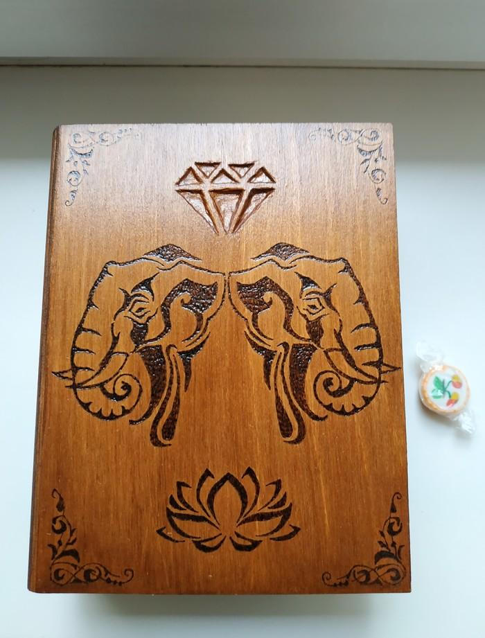 Шкатулка-книга, слоны Рукоделие, Рукоделие без процесса, Дерево, Работа с деревом, Handmade, Слоны, Выжигание, Длиннопост