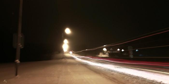 Зимнее ускорение! Зима, Фотография, Проводка, Honor 9