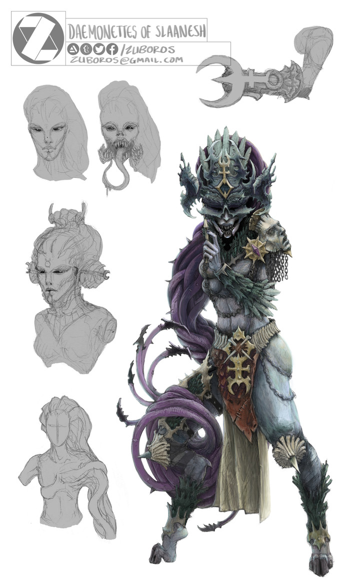 Concepts by Thomas Mack. Warhammer 40k, Wh Art, Necrons, Chaos Daemons, Chaos Space marines, Night Lords, Длиннопост