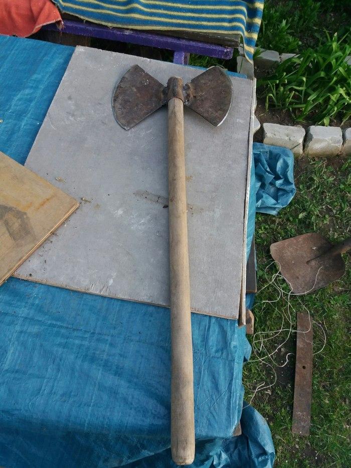 Когда тебе скучно, но есть сломанные тяпки и лопата Рукоделие без процесса, Самоделки, Секира, Длиннопост