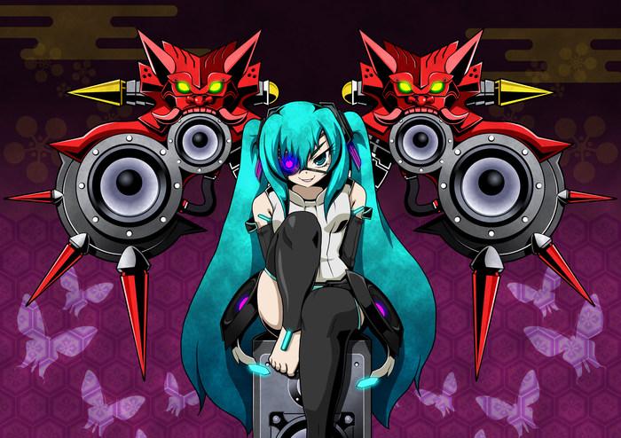 Acoustic weapons Otogamic Аниме, Не аниме, Anime Art, Vocaloid, Hatsune Miku, Pixiv, Miku append