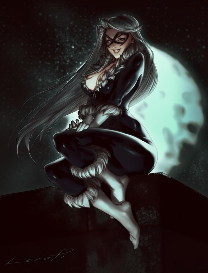 Black Cat Арт, Рисунок, Девушки, Black Cat, Marvel, LeraPi