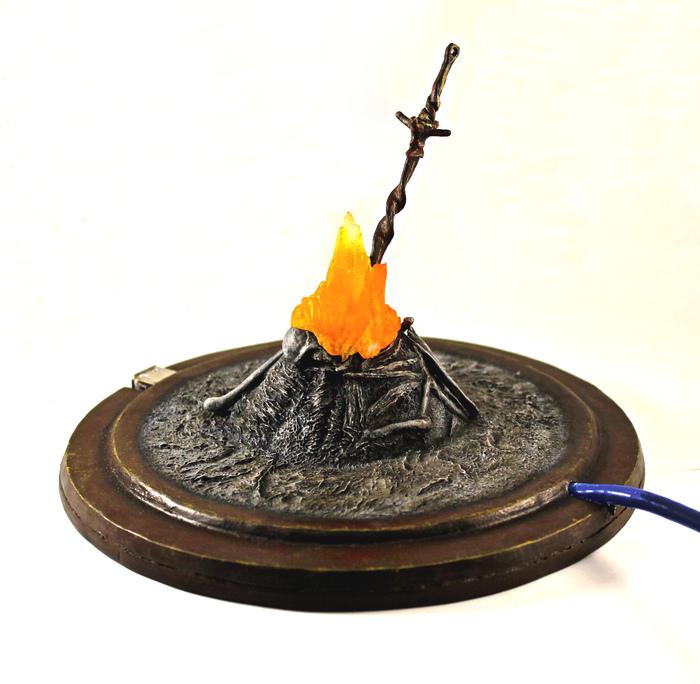 Таинственный USBBonfire из Dark Souls Handmade, Хобби, Крафт, Рукоделие с процессом, Санкт-Петербург, Dark Souls, Длиннопост, Я сделяль