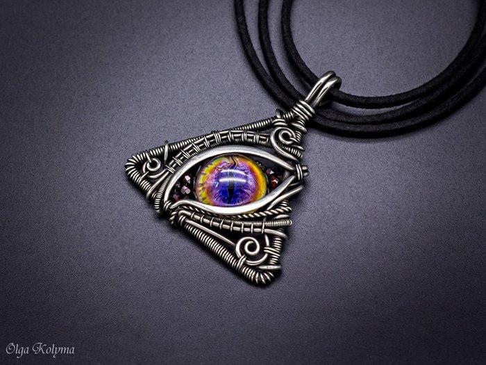 Глаз дракона-2. Wire wrap, Лэмпворк, Рукоделие без процесса, Украшения ручной работы, Кулон, Глаза, Драконий глаз, Длиннопост