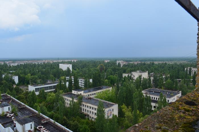 Припять после дождя. Припять, Чернобыль, Сталкер, Фотография, Крыша, Дождь