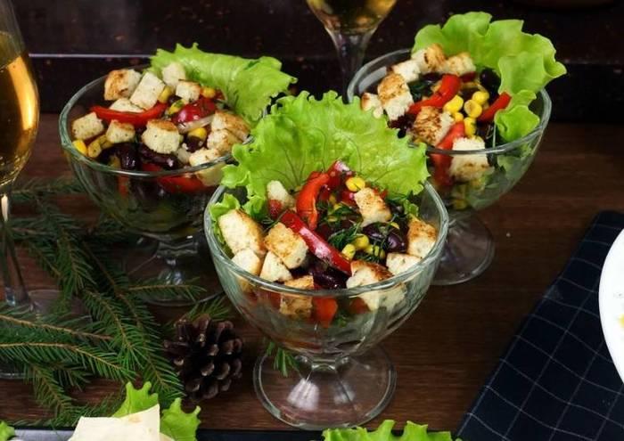 Овощной салат с чесночной заправкой С дедом за обедом, Еда, Кулинария, Рецепт, Салат, Вкусно, Видео, Длиннопост