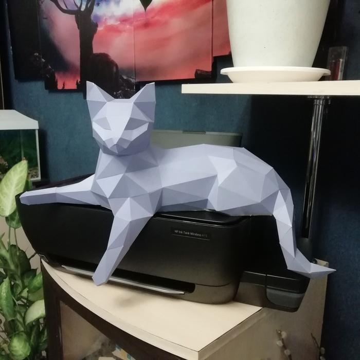 Пятничный papercraft Пятничное, Papercraft, Своими руками, Рукоделие без процесса, Кот