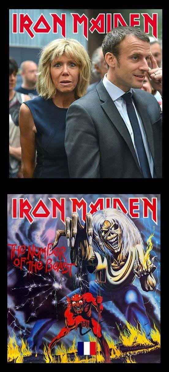 Iron Maiden Iron Maiden, Макрон, Брижит Макрон, Франция