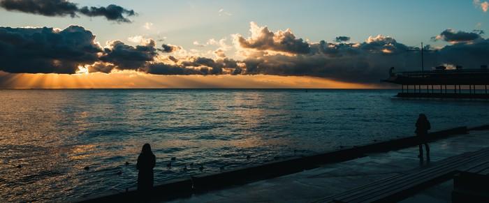 Очередной ялтинский рассвет Пейзаж, Фотография, Черное море, Ялта, Крым, Зима, Длиннопост