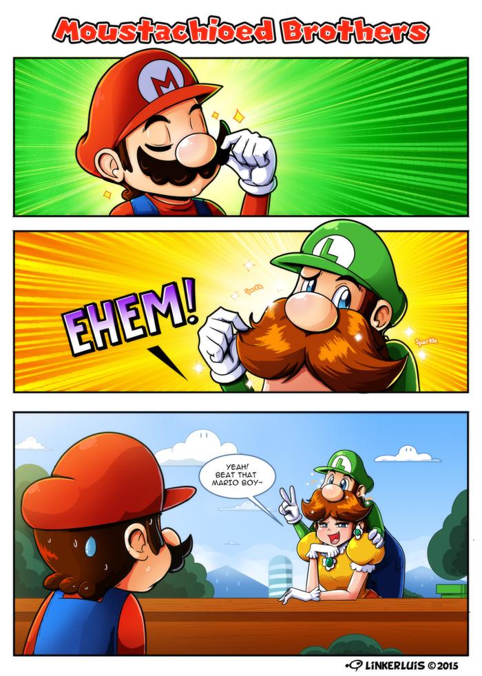 Самое главное в жизни мужчины. Марио, Луиджи, Princess Daisy, Игры, Комиксы, Усы