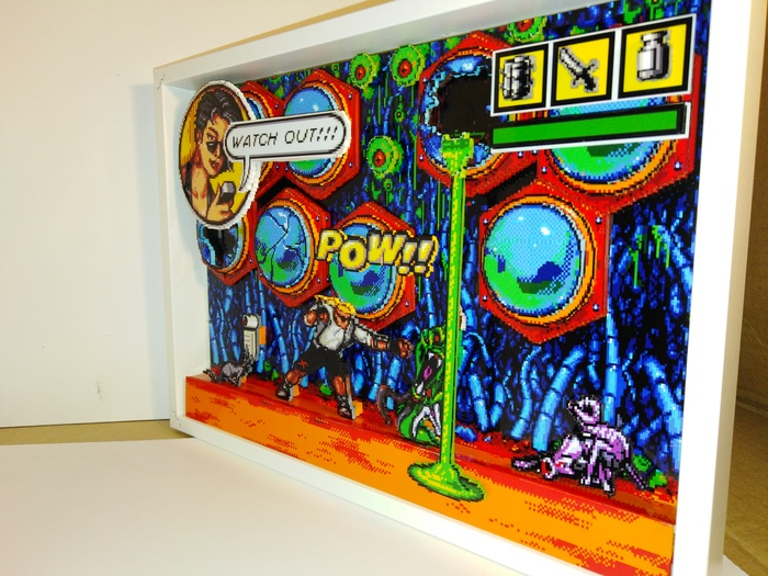 Диорама по игре Comix zone/level-night of the mutants Диорама, Sega Mega Drive, Comix Zone, Своими руками, Длиннопост