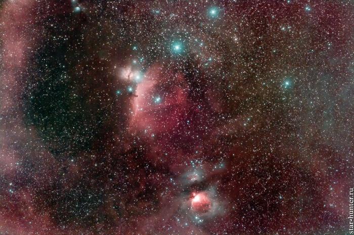 Туманности в Орионе, 7 ноября 2018 года Астрофото, Астрономия, Космос, Орион, Туманность ориона, StarHunter, АнапаДвор, Длиннопост
