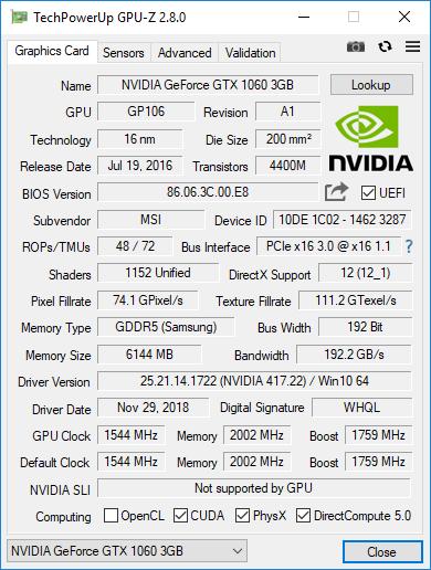 Апгрейд GTX1060 3Gb до 6Gb