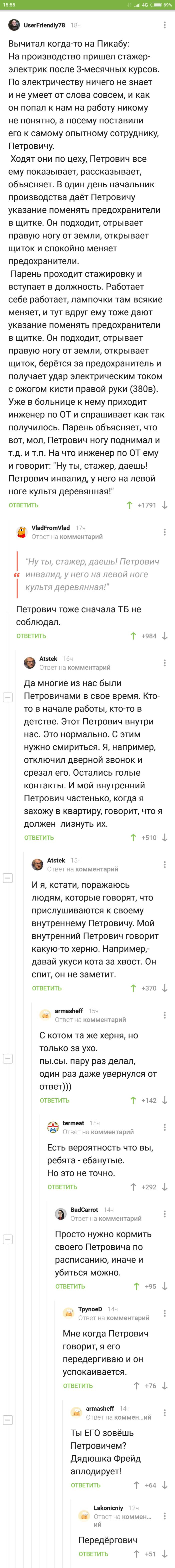 Внутренний голос. Скриншот, Длиннопост, Петрович, Комментарии на Пикабу