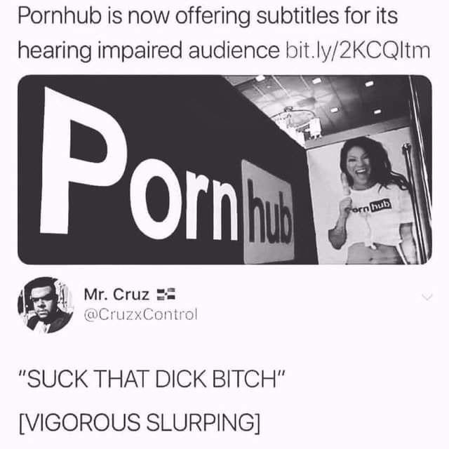 Субтитры Pornhub, Порно, Субтитры, Слабослышащие, Скриншот, Twitter
