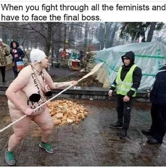 Босс феминисток. Феминизм, Феминистки, Прикол, Босс