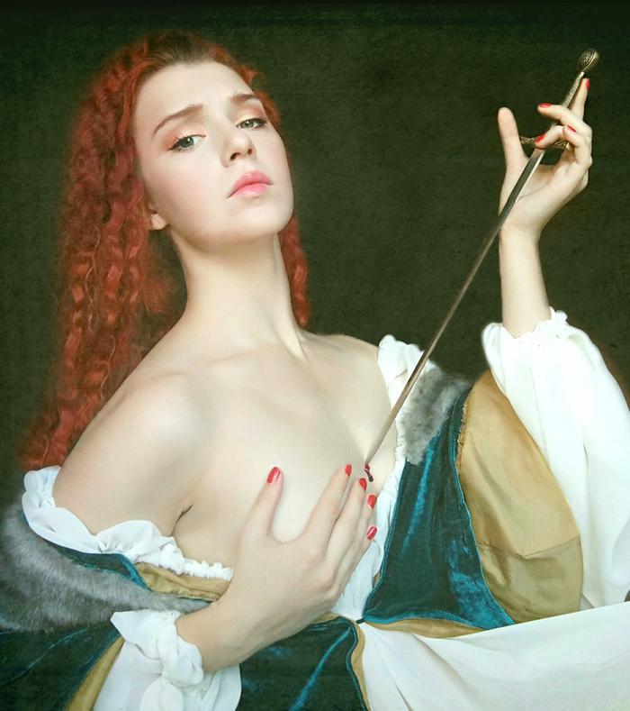 Смерть Лукреции Древний Рим, Ренессанс, Рыжая девушка, Античность