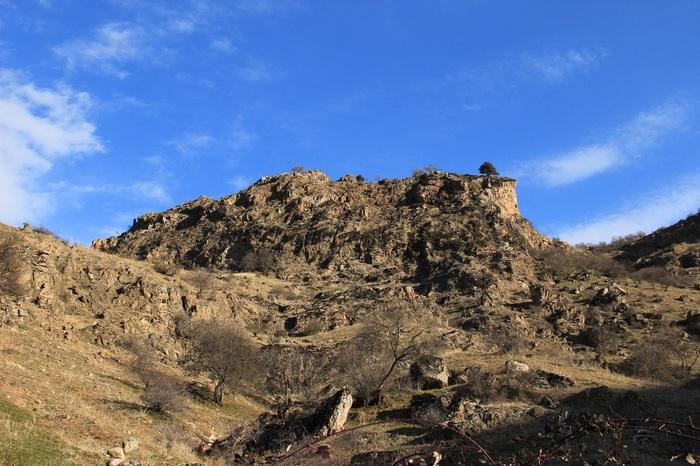 Середина декабря Горы, Природа, Туман, Таджикистан, Длиннопост