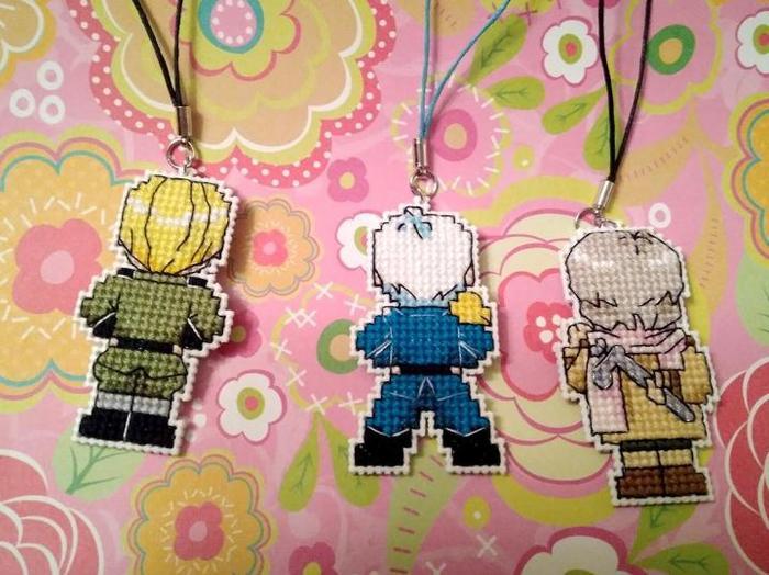 Вышитые брелочки по Hetalia. Hetalia: Axis Power, Вышивка крестом, Рукоделие, Брелок, Anime Art