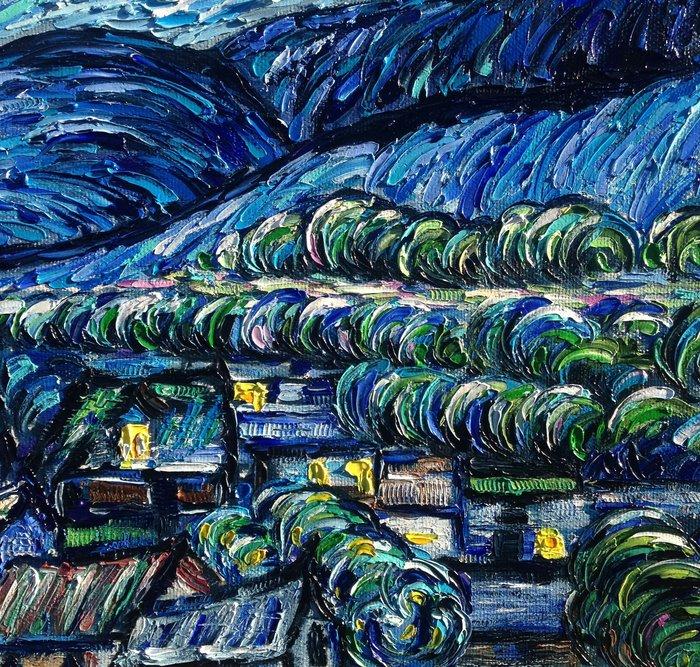 Моя мастихиновая живопись Ван Гог, Копия, Живопись, Мастихин, Арт, Творчество, Длиннопост