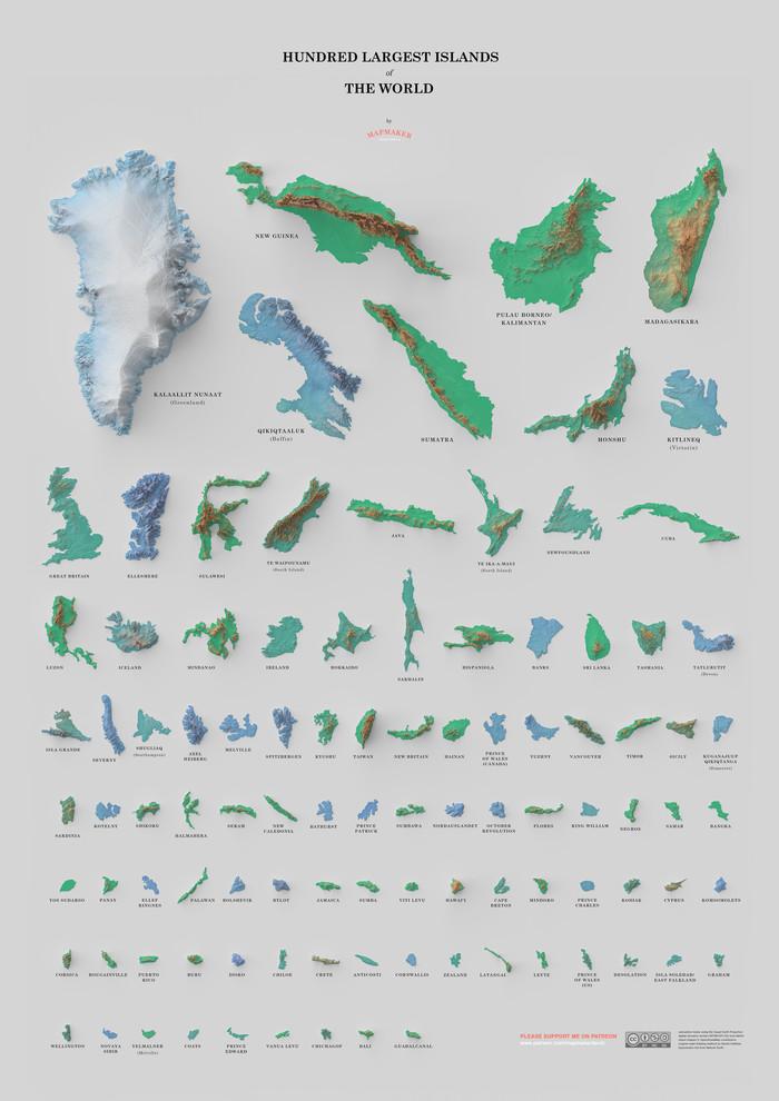 100 самых больших островов мира