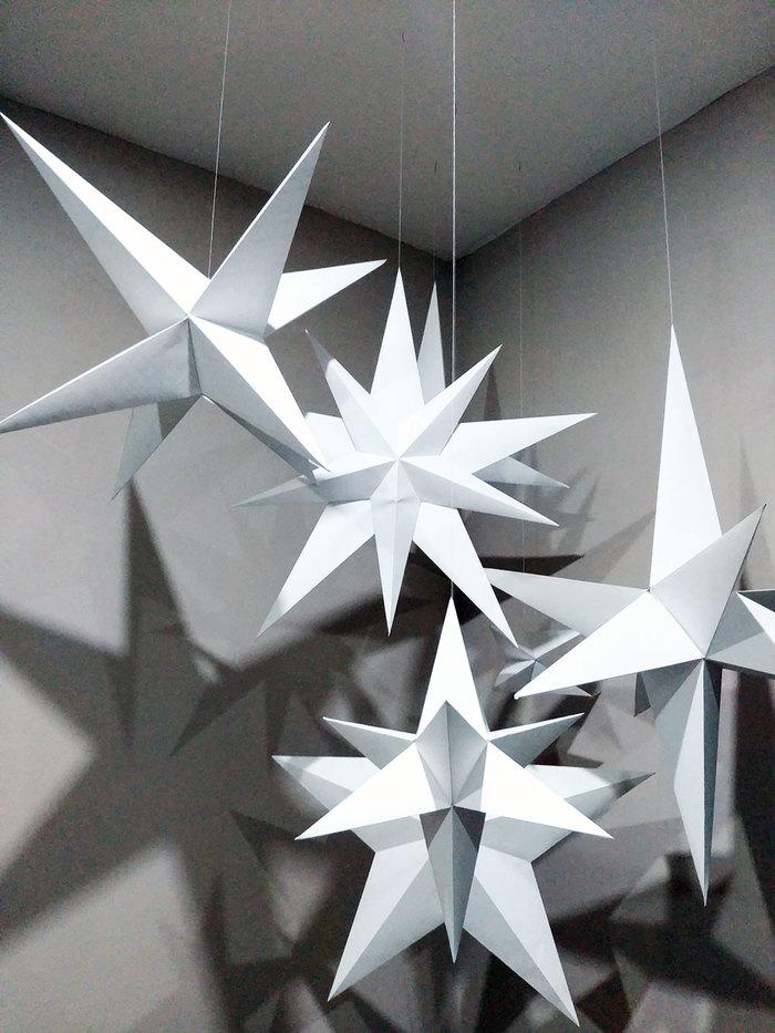 3D звезды к Новому году Звёзды, 3D, Papercraft, Pepakura, Рукоделие без процесса, Изделия из бумаги