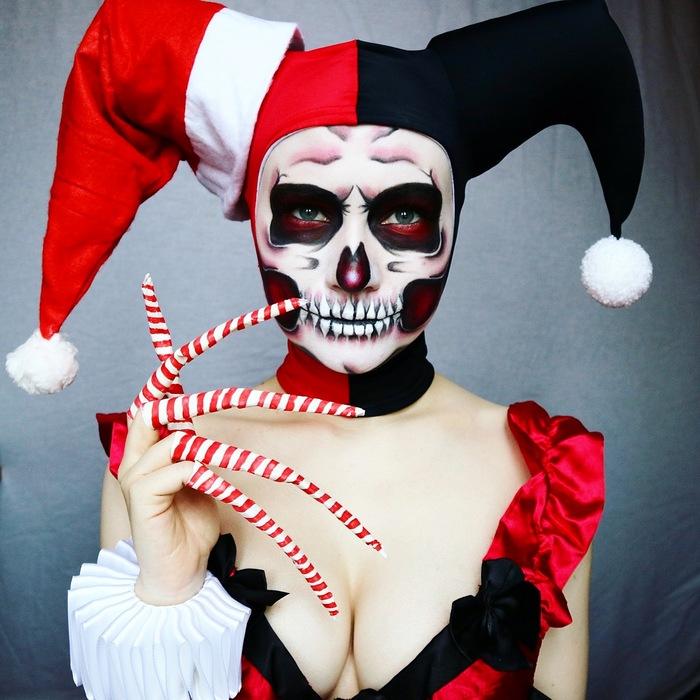 Образы для Хэллоуина 4. Косплей, Бодиарт, Хэллоуин, Харли Квинн, Длиннопост