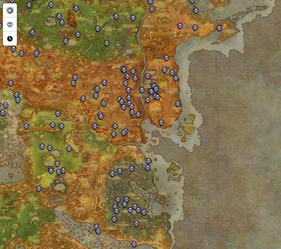 Занимательная Картография: редкие мобы Занимательная картография, World of Warcraft, Photoshop, Javascript