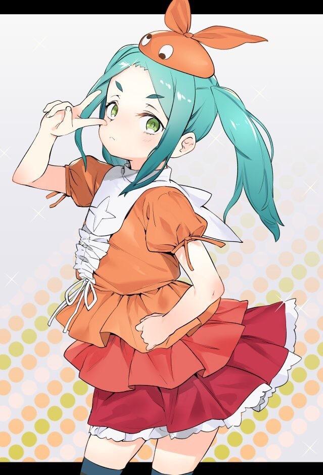 Сказала она с серьёзным лицом) Anime Art, Zettai Ryouiki, Loli, Yotsugi Ononoki, Monogatari Series