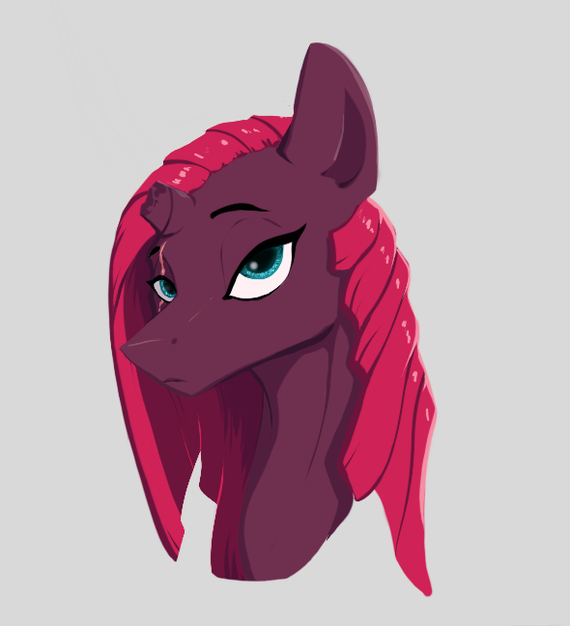Tempest My Little Pony, PonyArt, Tempest Shadow, Greyscaleart