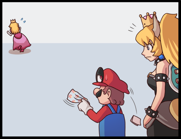 Cappy has seen quite enough from this plumber Ayyk92, Комиксы, Марио, Игры, Princess Peach, Bowsette, Супер корона, Длиннопост