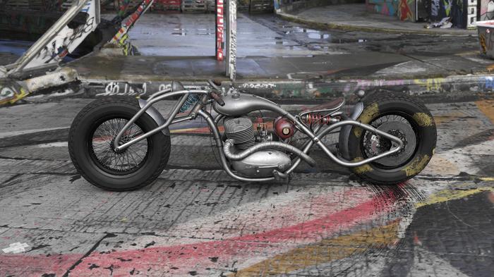 "Jawa 354 ""Charon"" custom moto Ява, Мотоциклы, Кастом, Концепт, 3ds max, Substance painter, Corona, Photoshop, Длиннопост"