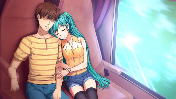 Поехали! Hatsune Miku, Семен, OrikaNekoi, Бесконечное Лето, Визуальная новелла, Anime Art