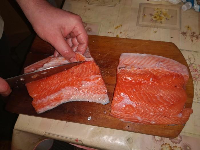 Сёмужка к столу Кулинария, Семга, Длиннопост, Засолка рыбы