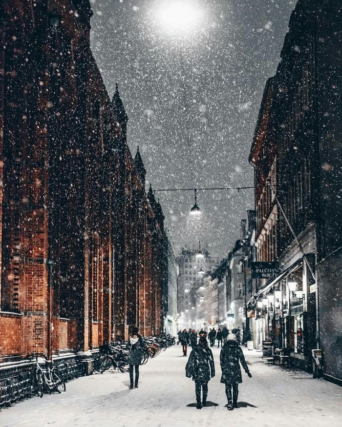 Зимний Копенгаген, Дания