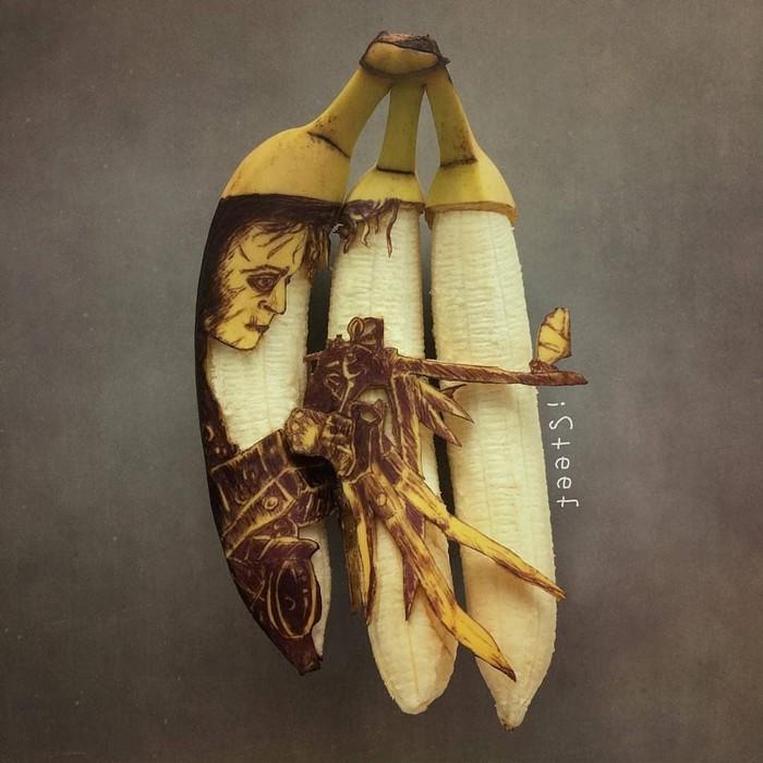 Когда просто съесть скучно Банан, Арт, Длиннопост
