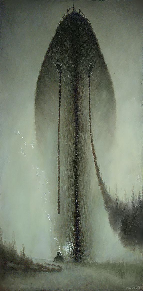 Забытые Под водой, Забытые, Водолаз, Живопись, Картина, Длиннопост, Масло, Картина маслом, Корабль