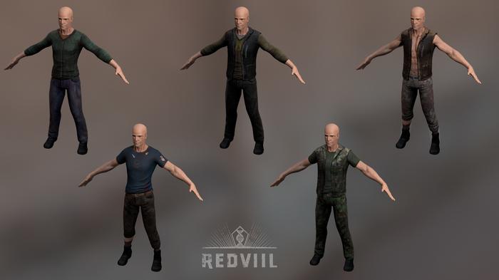 Redviil ( второй месяц разработки ) Redviil, Игры, Gamedev, Indiedev, Indie, Unity, Видео, Гифка, Длиннопост