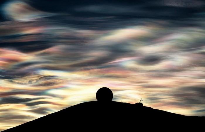 Перламутровые облака в Антарктике