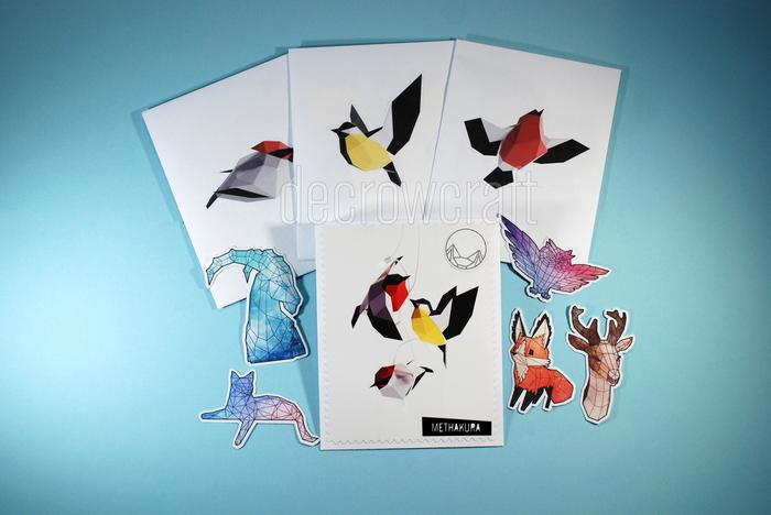 История о том, как мы делали подарок на Новый год. Papercraft, Pepakura, Своими руками, Птицы, Low poly, Decrowcraft, Methakura, Бумага, Длиннопост