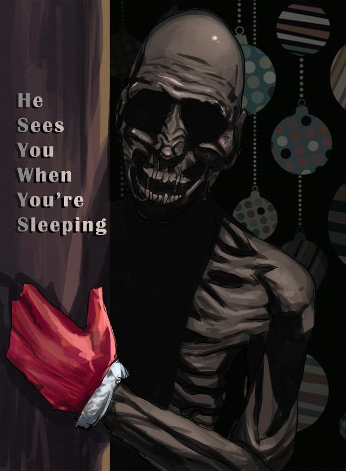 Новогодние и рождественские карточки для SCP: SL SCP, Game Art, Новый Год, Открытка, Игры, Чумной доктор, Хоррор, Secret laboratory, Длиннопост