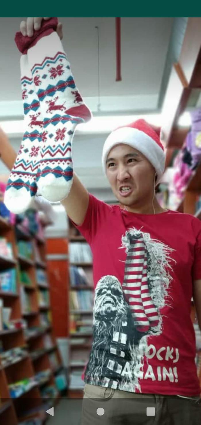 Опять носки! Новый Год, Подарок, Носки, Чубакка, Звездные войны IV, Принт на майке