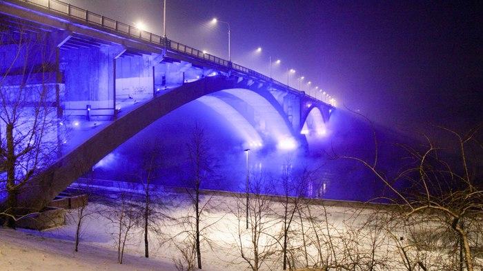 Коммунальный мост. Красноярск.