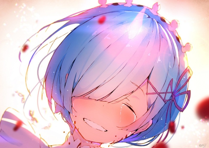 Рем Аниме, Anime Art, 4koma, REM, Rem Re:Zero, AMV