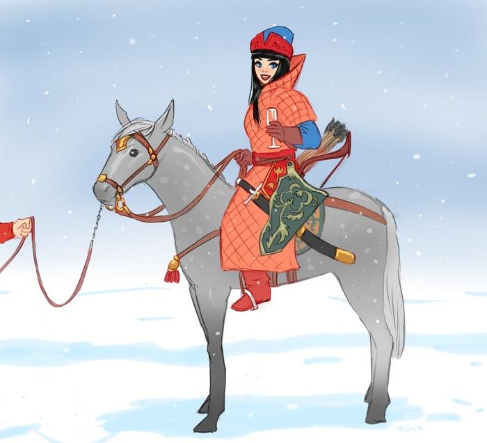 Новогодняя поместная конница