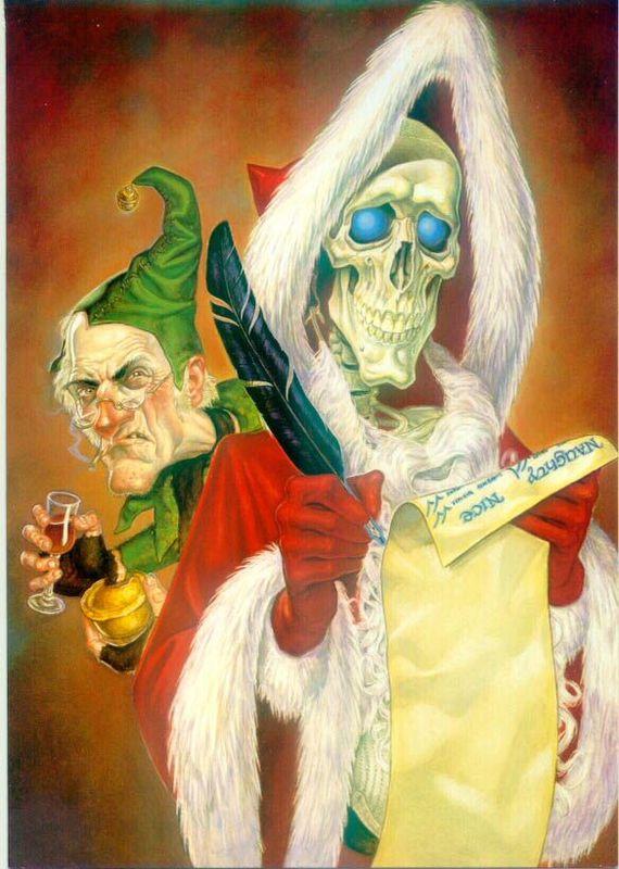 Веселого Страждества и счастливого Нового Года! Терри Пратчетт, Санта-Хрякус, Новый Год, Поздравление, Без рейтинга, Книги, Цитаты, Длиннопост