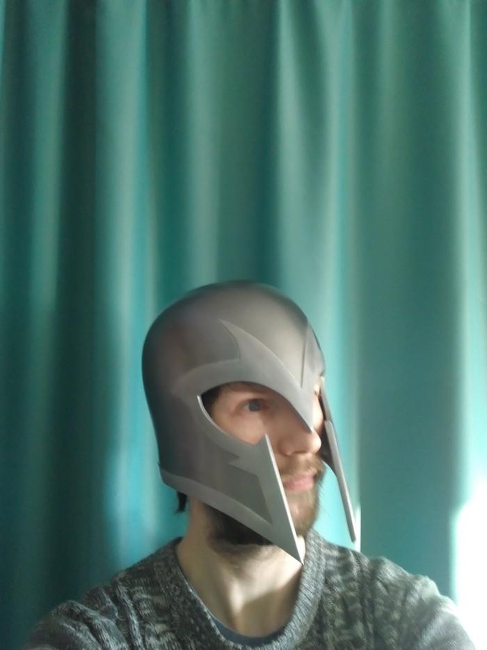 """Всем привет и с Наступающим новым годом!)  Хочу поделиться фотками шлема магнето из фильма """"Люди икс:первый класс"""" Люди Икс, Из бумаги, Косплей, Магнето, Творчество, Хобби, Своими руками, Ручная работа, Длиннопост"""