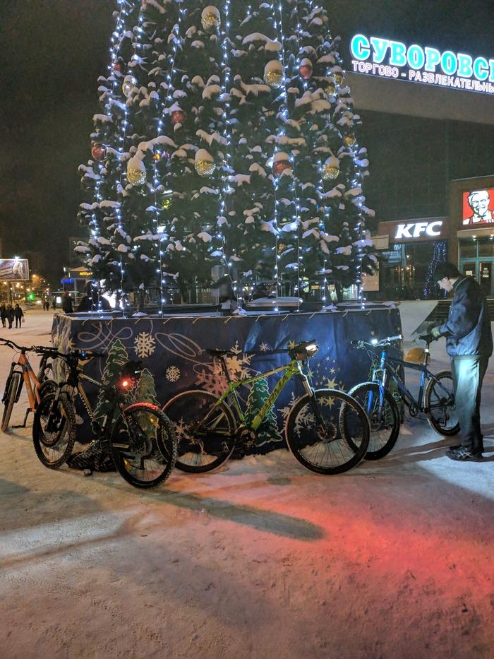 Как мы новый год отмечали Велосипед, Праздники, Новый Год, Длиннопост