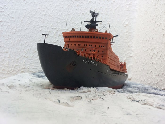 "Диорама ""Арктика"" Ледокол, Арктика, Стендовый моделизм, Длиннопост"