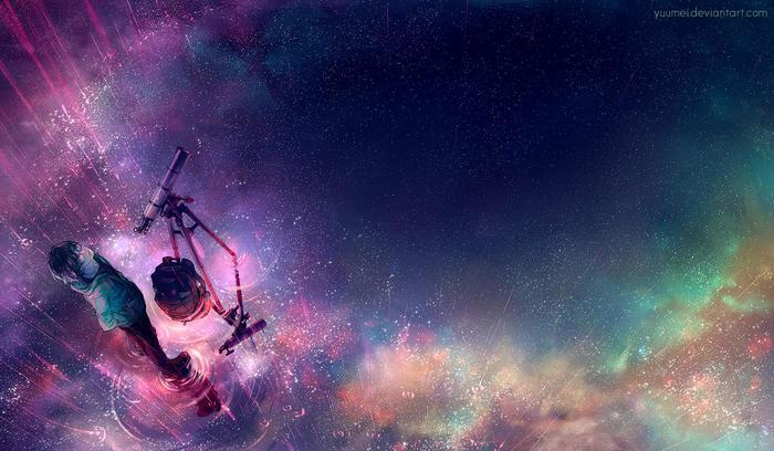 Field of Dreams Арт, Телескоп, Отражение, Yuumei